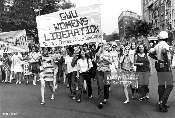 Women's liberation movement in Washington United States on August 26 1970