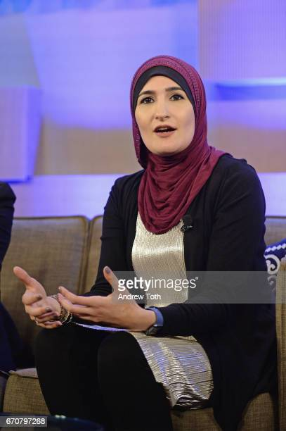 Women's March National CoChair Linda Sarsour speaks onstage during Vanity Fair's Founders Fair at the 1 Hotel Brooklyn Bridge on April 20 2017 in...