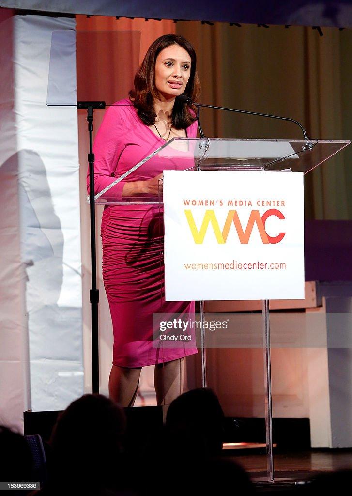 Women's Media Center Carol Jenkins Emerging Journalist Award winner, Maria Teresa Kumar speaks onstage at the 2013 Women's Media Awards on October 8, 2013 in New York City.