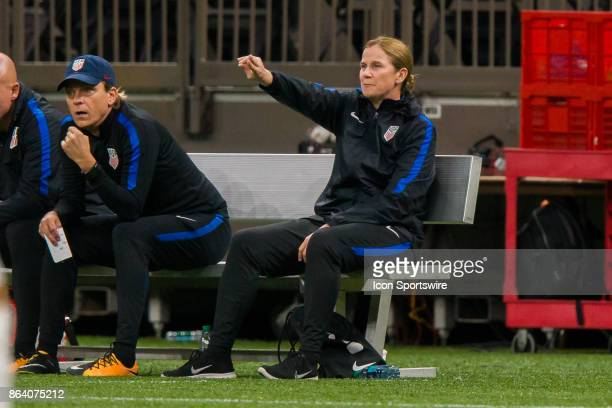 S Womens National Team head coach Jill Ellis looks on during the match between the US Womens National Team and the Korea Republic on October 19 2017...
