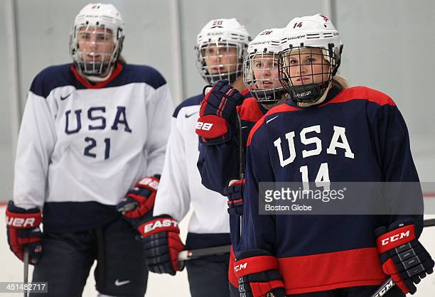 Women's Olympic hockey team members are staying with Concord families and training at The Edge in Bedford throughout the fall and winter as they...