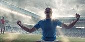 Womens Soccer Player Celebrating After Scoring