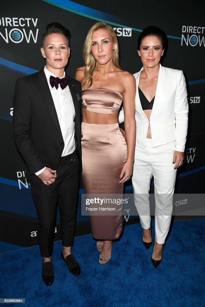 U.S. Women's Soccer players Ashlyn Harris, Allie Long and Ali Krieger attend the 2017 DIRECTV NOW Super Saturday Night Concert at Club Nomadic on February 4, 2017 in Houston, Texas.