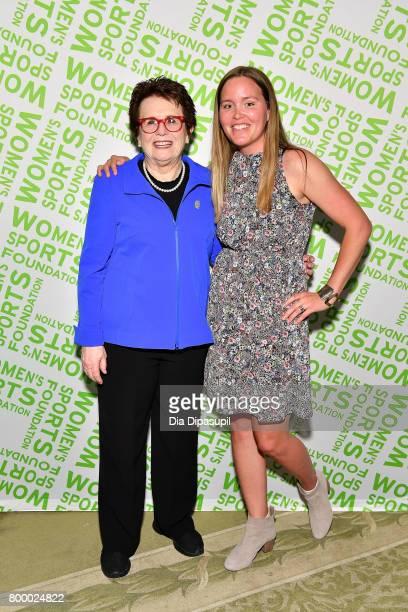 Women's Sports Foundation founder Billie Jean King and Women's Sports Foundation president Grete Eliassen attend the Women's Sports Foundation 45th...