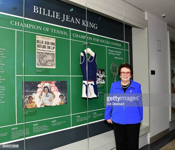 Women's Sports Foundation founder Billie Jean King attends the Women's Sports Foundation 45th Anniversary of Title IX celebration at the NewYork...