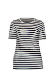 Women's striped T-shirt on a white background