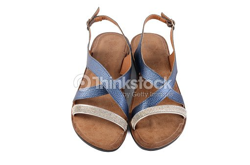 9aba8a23d9c Womens Summer Shoes Isolated On White Background Stock Photo ...