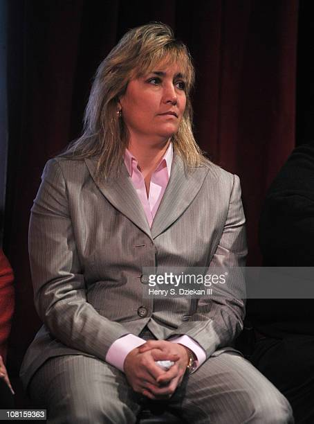 Women's Super Welterweight Champion Christy Martin attends the Bob Arum and Don King press conference to announce Miguel Cotto vs Ricardo Mayorga at...