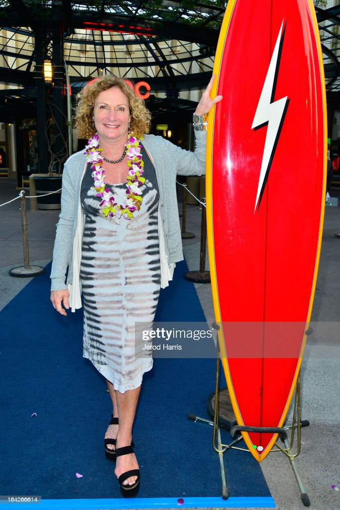 Womens surfing world champion Jericho Poppler arrives at Disney's 'A Deeper Shade Of Blue' surfing documentary premiere at AMC Downtown Disney 12 Theater on March 21, 2013 in Anaheim, California.