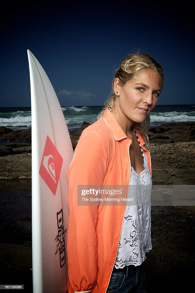 Women's Surfing World Champion <a gi-track='captionPersonalityLinkClicked' href=/galleries/search?phrase=Stephanie+Gilmore&family=editorial&specificpeople=761948 ng-click='$event.stopPropagation()'>Stephanie Gilmore</a> poses on February 19, 2013 in Newcastle, Australia. Australia's four world champion surfers are in Sydney to celebrate Surfing Australia's 50th anniversary.