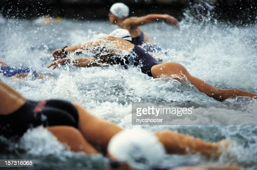 Womens Triathlon swim start