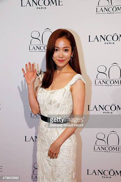 Won Sen Lee attends the Lancome 80th anniversary party as part of Paris Fashion Week Haute Couture Fall/Winter 2015/2016 on July 7 2015 in Paris...