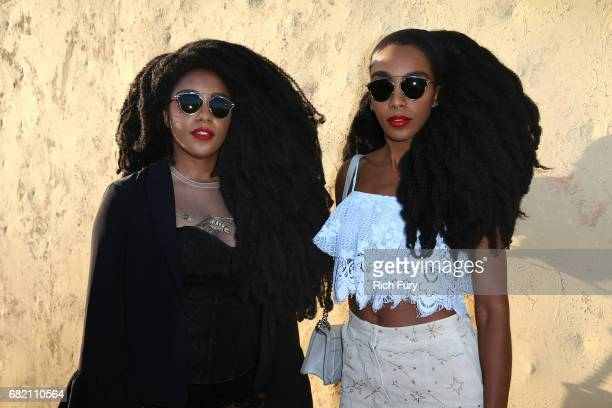 Wonder and Cipriana Quann attend the Christian Dior Cruise 2018 Runway Show at the Upper Las Virgenes Canyon Open Space Preserve on May 11 2017 in...