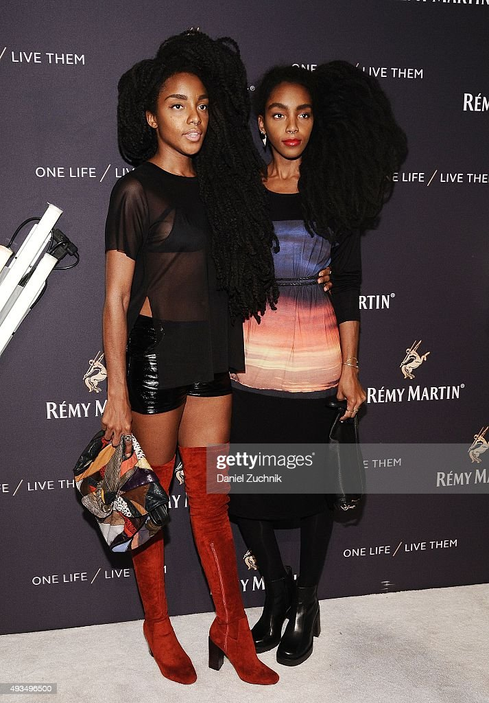 TK Wonder and Cipriana Quann attend the The House Of Remy Martin 'One Life/Live Them' Launch Event With Jeremy Renner at ArtBeam on October 20, 2015 in New York City.