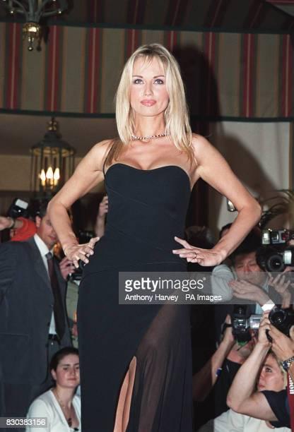 Wonder Bra woman Adriana Sklenarikova at a photocall at the Cannes film festival