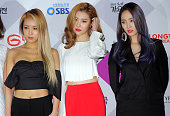 Wonder Girls attend the 2015 SBS Awards Festival at COEX on December 27 2015 in Seoul South Korea