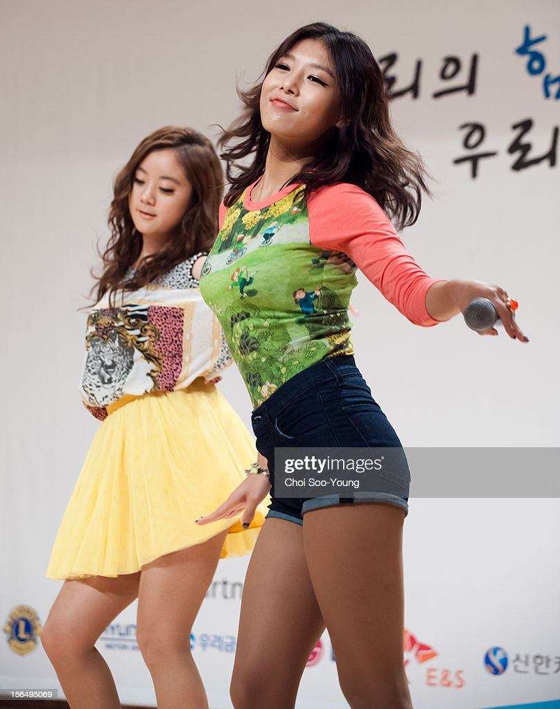 Wonder Girls perform onstage during the 'PyeongChang 2013 Special Olympics World Winter Games Volunteer Ceremony' at the National library of Korea, International Conference Hall on November 15, 2012 in Seoul, South Korea.