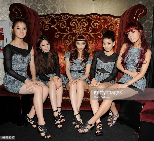 Wonder Girls pose at their worldwide album launch at The Conga Room at LA Live on May 15 2010 in Los Angeles California