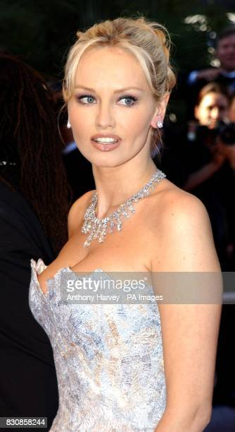 Wonderbra model Adriana Karembeu arrives for the premiere of the documentary film 'Searching for Debra Winger' as part of the 55th Cannes Film...