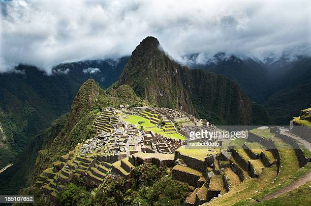 Wonderful landscape view of Machu Picchu in Peru