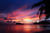 A amazing beach sunset view in Guam, USA