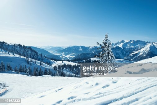 Wonderful winter landscape of the Austrian Alps