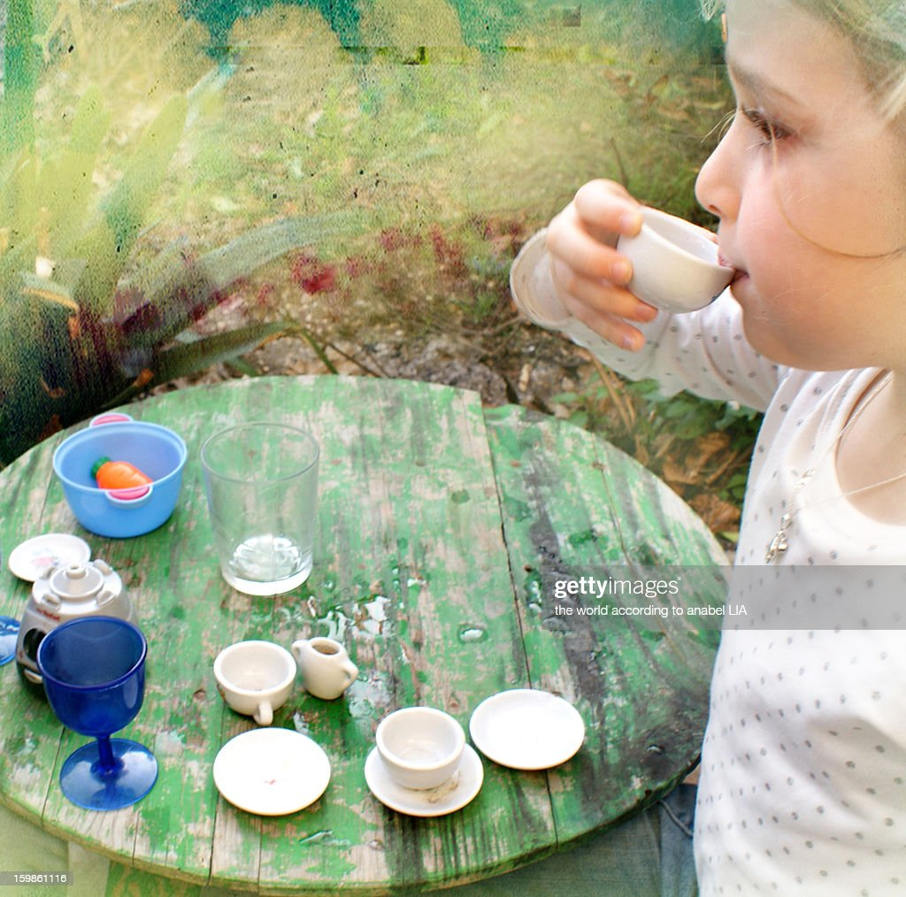 Wonderland: a mad tea party : Stock Photo