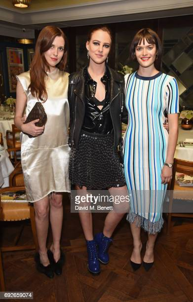 Wonderland editor Chloe Stevens Eliza Cummings and Sam Rollinson attend the Wonderland Summer Issue dinner hosted by Madison Beer at The Ivy Soho...