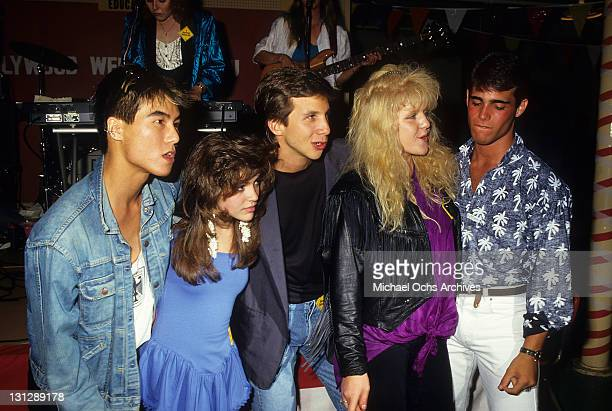 BD Wong Alyssa Milano Rob Stone Tina Yothers and Brian Bloom are part of the allstar cast from the television movie 'Crash Course' 1988