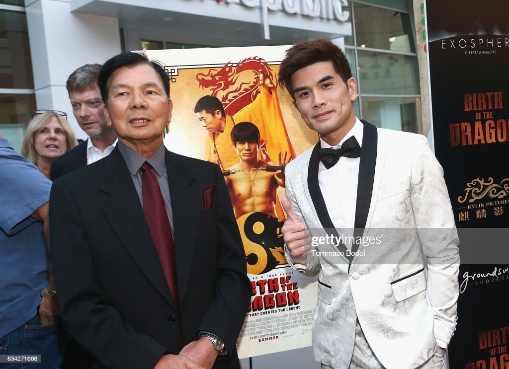 Wong Jack Man and Phillip Ng attend the Premiere Of WWE Studios' 'Birth Of The Dragon' at ArcLight Hollywood on August 17, 2017 in Hollywood, California.