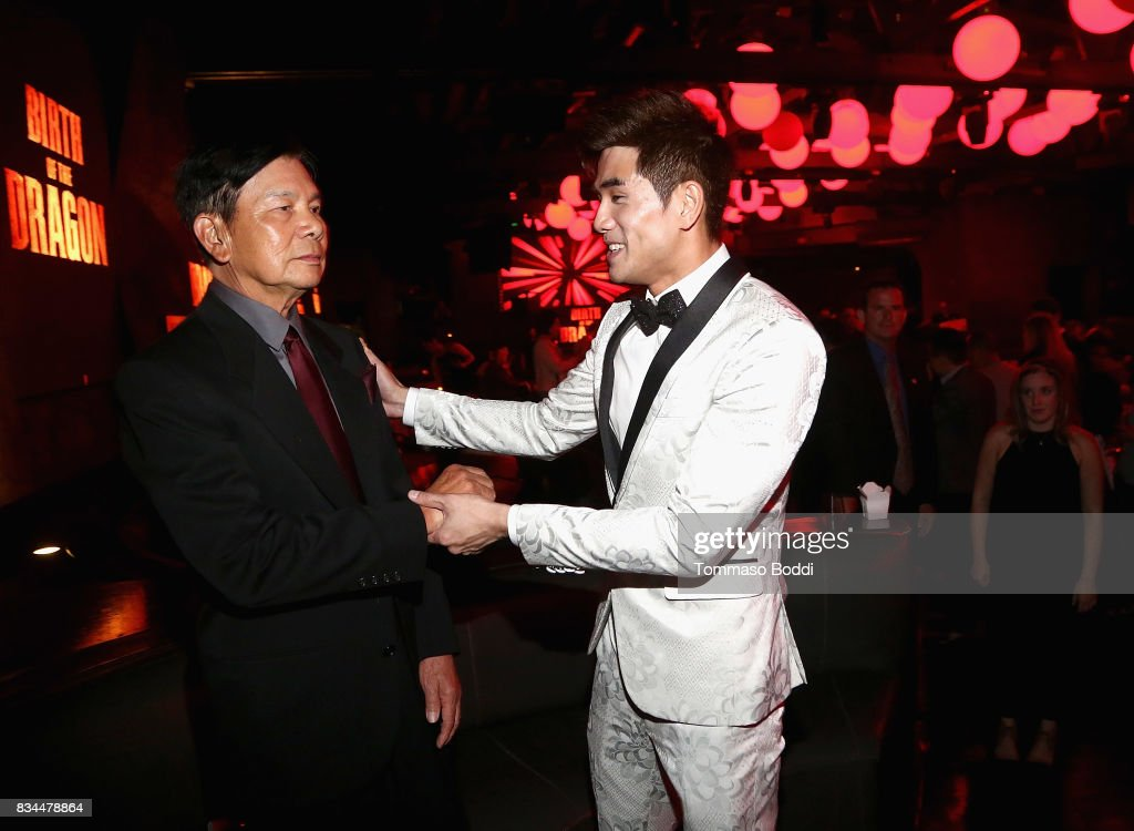Wong Jack Man and Phillip Ng attend the special screening WWE Studios' 'Birth Of The Dragon' After Party on August 17, 2017 in Hollywood, California.
