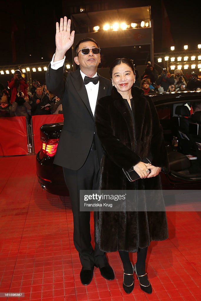 Wong Kar Wai and his wife Esther attend 'Side Effects' Premiere - BMW at the 63rd Berlinale International Film Festival at Berlinale Palast on February 12, 2013 in Berlin, Germany.