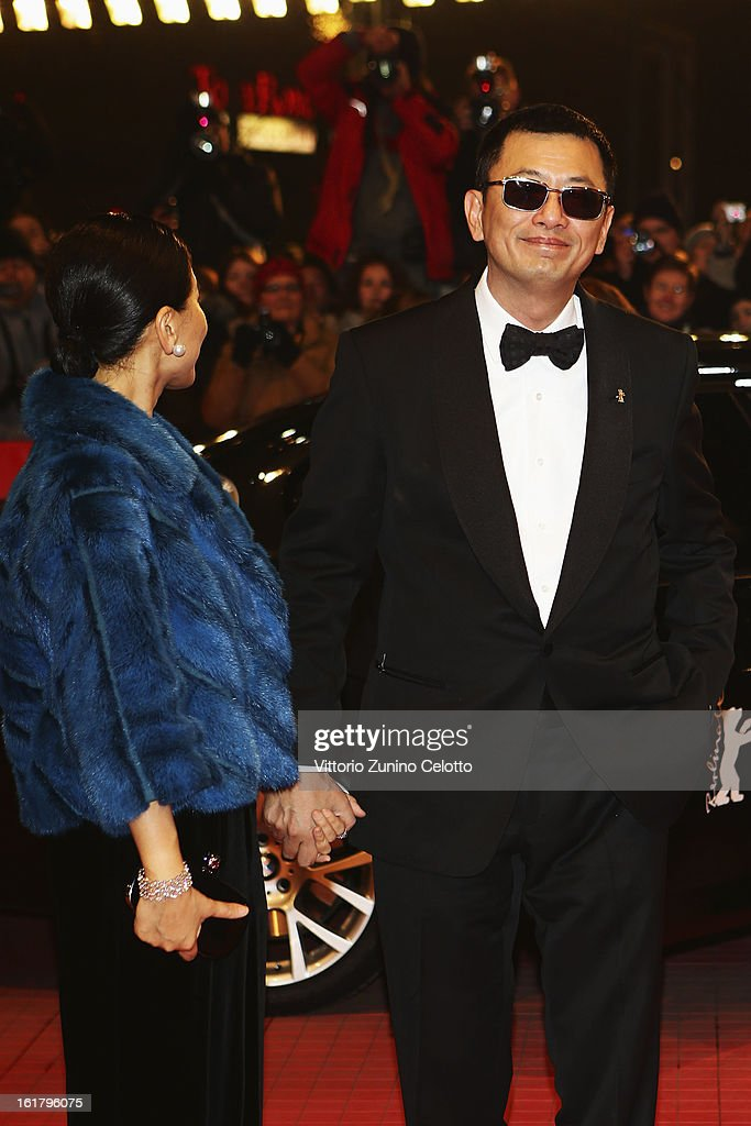 Wong Kar Wai and his wife Esther attend the Closing Ceremony of the 63rd Berlinale International Film Festival at Berlinale Palast on February 14, 2013 in Berlin, Germany.