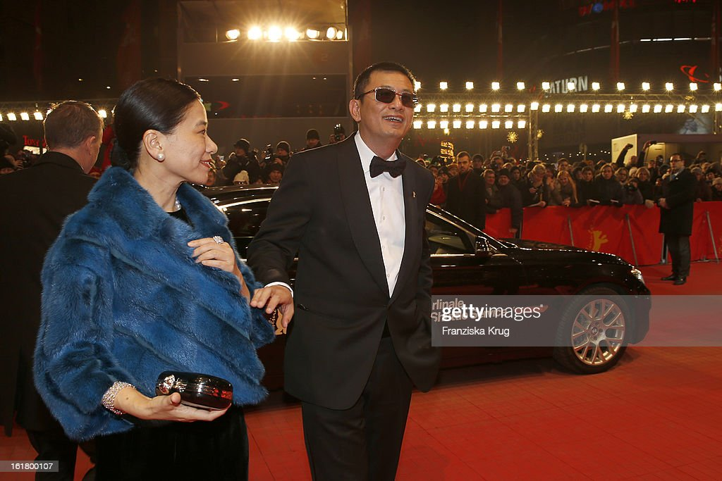 Wong Kar Wai and his wife Esther (L) attend the Closing Ceremony Red Carpet Arrivals - BMW At The 63rd Berlinale International Film Festival at Berlinale-Palast on February 16, 2013 in Berlin, Germany.