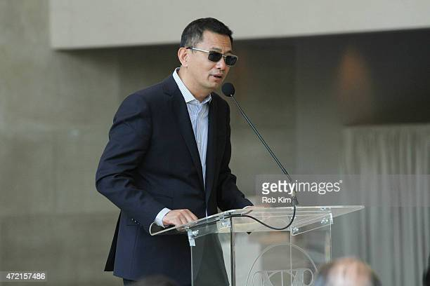 Wong Kar Wai attends 'China Through The Looking Glass' Costume Institute Benefit Gala Press Preview at Metropolitan Museum of Art on May 4 2015 in...