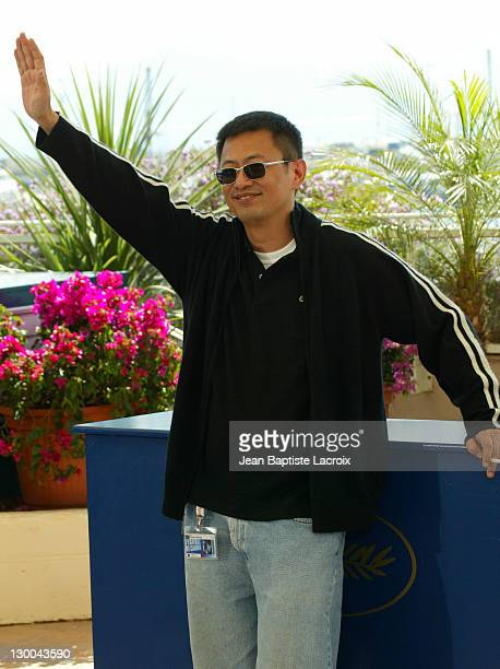 Wong Kar Wai during 2004 Cannes Film Festival '2046' Photocall at Palais Du Festival in Cannes France