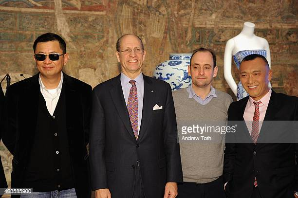 Wong Kar wai Mike Hearn Nathan Crowley and Joe Zee attend The Metropolitan Museum Of Art's 'China Through The Looking Glass' press presentation at...