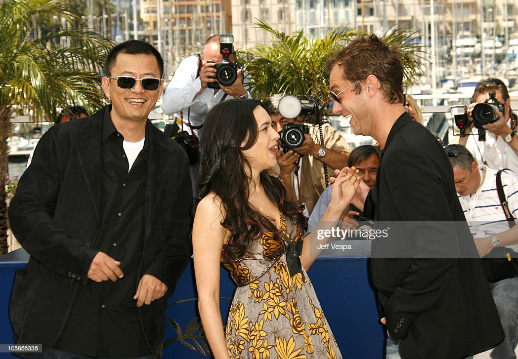 Wong Kar-Wai, director, Norah Jones and Jude Law during 2007 Cannes Film Festival - 'My Blueberry Nights' Photocall at Palais des Festival in Cannes, France.