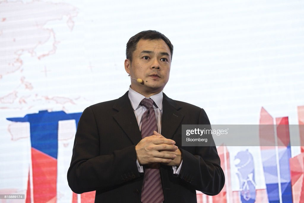 Wong Kit Foong, chief executive officer of Lufax International, speaks during a news conference in Singapore, on Monday, July 17, 2017. Ping An Insurance Group Co., which has a 43 percent stake in Lufax and is China's largest online lender, will embark on its first foray into wealth and asset management outside Greater China when its online financial division starts servicing international clients out of Singapore next month. Photographer: Ore Huiying/Bloomberg via Getty Images
