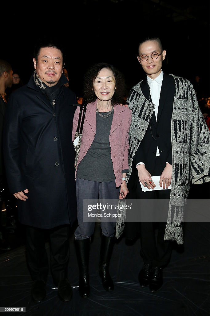 Wong Wei Dong, Christine Choy, and Shengyu Wang attend Taoray Wang fashion show during Fall 2016 New York Fashion Week: The Shows at The Dock, Skylight at Moynihan Station on February 13, 2016 in New York City.