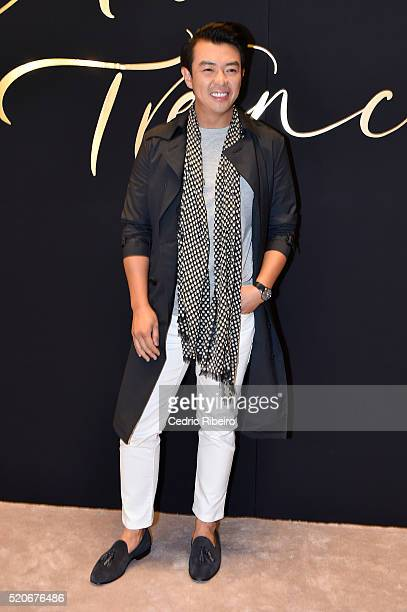'DUBAI UNITED ARAB EMIRATES APRIL 12 Wonho Chung at the Burberry Art of the Trench Middle East event at Mall of the Emirates on April 12 2016 in...