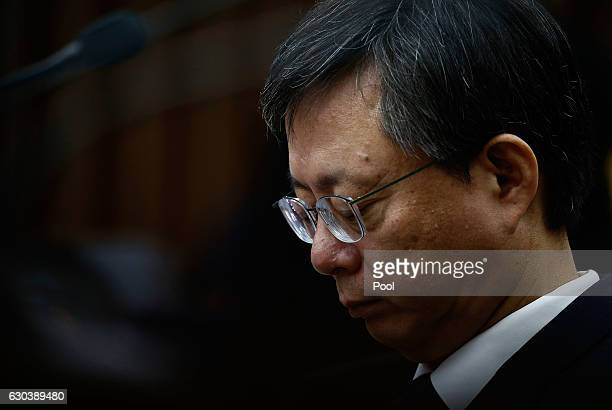 Woo ByungWoo South Korean former senior presidential aide attends a parliamentary hearing over the Choi Soonsil gate probe at the National Assembly...