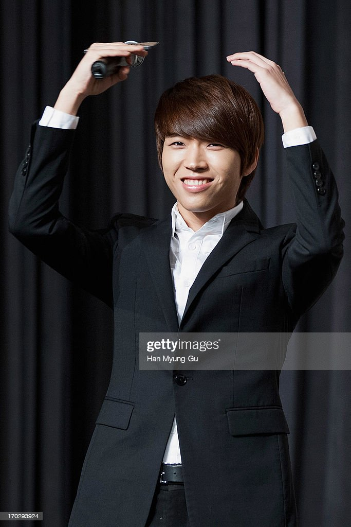 Woo Hyun of South Korean boy band Infinite during the 2013 Infinite 1st World Tour 'One Great Step' Press Conference on June 10, 2013 in Seoul, South Korea.