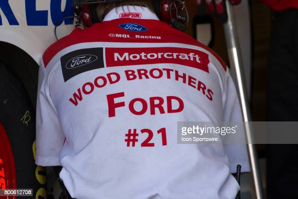 Wood Brothers Racing is almost as old as NASCAR itself as seen at the Toyota/Save Mart 350 practice on June 23 2017 at Sonoma Raceway in Sonoma CA