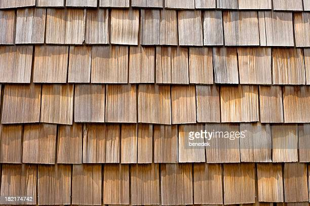 Wood Cedar Shingle Background Closeup