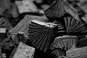 Wood Coal Background