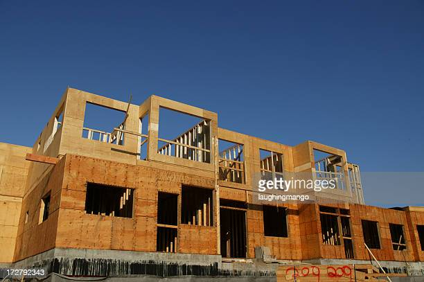 wood construction frame apartment housing