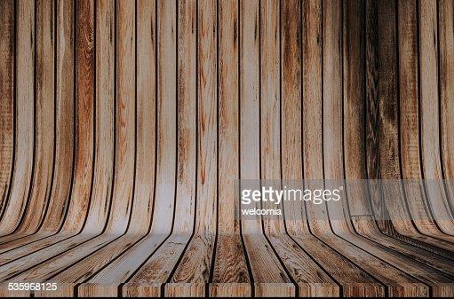 Wood Cyclorama Backdrop : Stock Photo