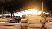 Wood factory stock and lumber board with nature business export