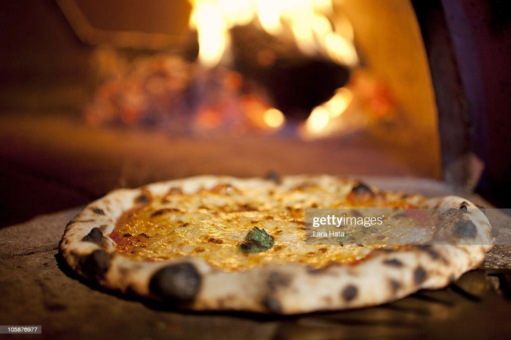 Wood fired pizza : Stock Photo